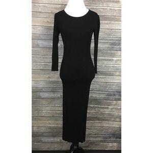 Enza Costa x Intermix Rib Knit Maxi Dress